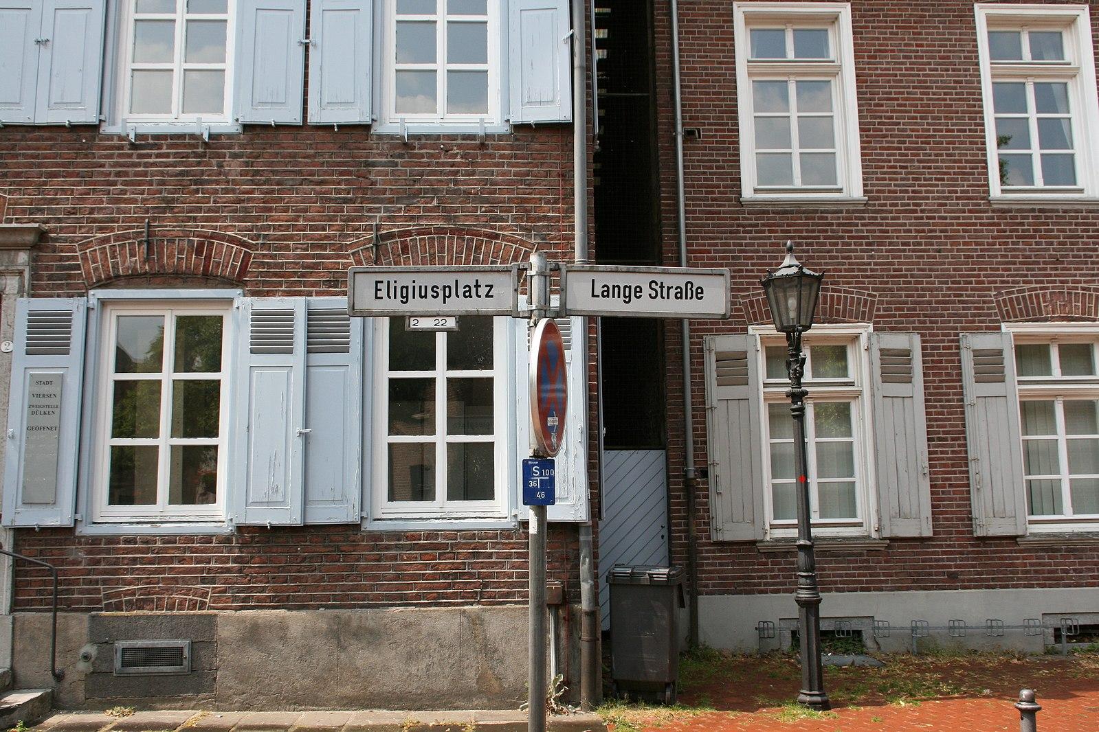 Viersen_Dülken_-_Eligiusplatz-Lange_Straße_01_ies